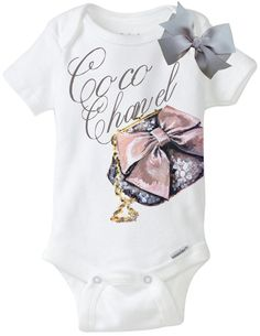 Coco Chanel Vintage Purse Onesie Design by TheBabyLuxeBoutique, $19.99