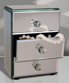 Selina Mirrored Jewelry Box by potterybarn coming up with all