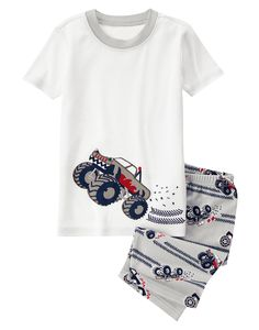 Monster Truck Shortie Two-Piece Gymmies® at Gymboree (Gymboree 6m-5T)