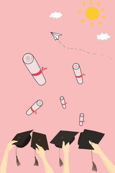 Creative Background Of Happy Graduation Hat Simple Background Images, Creative Background, Background Pictures, Blog Backgrounds, Colorful Backgrounds, Graduation Wallpaper, Teacher Wallpaper, School Posters, Digital Art Girl
