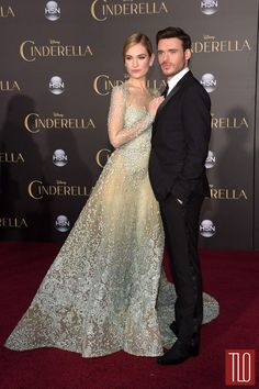 Lily James and Richard Madden Cinderella premiere