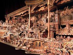 Probošt's mechanical Christmas crib, also known as Bethlehem of Třebechovice (East Bohemia), Czechia  #folkart #Czechia