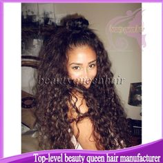 Find More Wigs Information about Hot selling 7A Grade 100% real virgin Brazilian curly lace front wigs & human hair full lace wigs for african americans ,High Quality Wigs from Top-level beauty queen hair manufacturer on Aliexpress.com