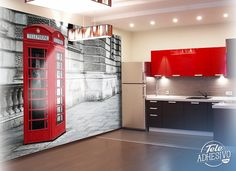 Fotomurales: Red phone #londres #decoracion #cabina #TeleAdhesivo