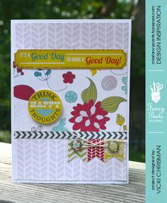 "This art that makes me happy: A few new Fancy Pants Designs Cards using ""Wonderful Day"" Collection"