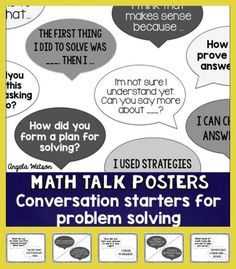 How to use math talk