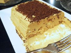 """Semifreddo is an Italian ice cream dessert which literally translates as """"half-cold"""" and is basically a partially frozen ice cream. Romanian Desserts, Romanian Food, Italian Desserts, Ice Cream Desserts, Just Desserts, Biscuit Cake, Chocolate Coffee, Food Cakes, Desert Recipes"""