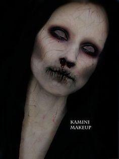 Halloween-Make-up - No Light - Makeup Ghost Makeup, Creepy Makeup, Witch Makeup, Zombie Makeup, Sfx Makeup, Costume Makeup, Beauty Makeup, Hair Beauty, Looks Halloween