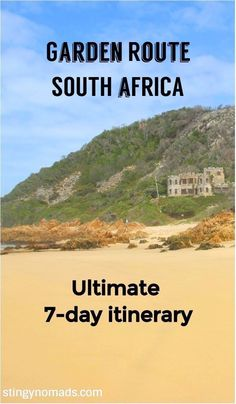 Best Garden Route travel itinerary; highlights, activities, National parks. #gardenroute #southafrica