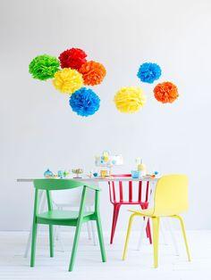 Juhlat tulossa? Askartele koristeeksi hauskoja pompom-palloja | Kodin Kuvalehti