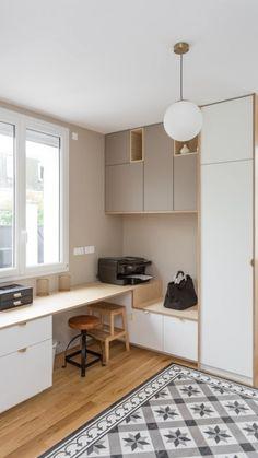 Study Room Design, Small Room Design, Room Design Bedroom, Bedroom Furniture Design, Small Room Bedroom, Home Room Design, Home Office Design, Home Office Decor, Home Interior Design