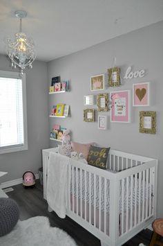 décoration chambre bébé fille rose et taupe | chambre enfant ...