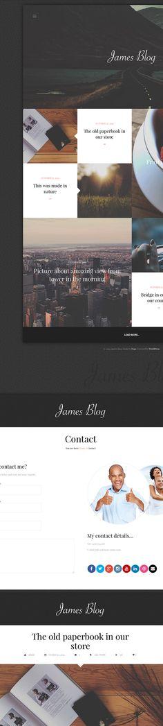 James Blog – Clean, Simple Personal WordPress Blog