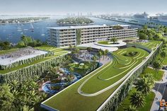 Miami voters approve hotel construction in Jungle Island, new renderings were released - BRG International Miami Architecture, East River, New Image, Ecology, Golf Courses, Real Estate, Construction, Island