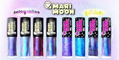 Blog ESMALTES E MISTURAS Novas coleções Cosmic Glitter Holográficos Mari Moon 2013 Hits Speciallità 1