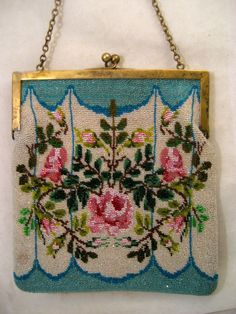 vintage beaded purse from antiquepurses on Ruby Lane