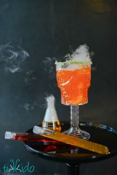 Zombie Science Halloween party fun with Fanta and Oreo!  Like this mix your own drink formula with test tubes of the different flavors of Fanta soda.  Easy to pick up everything you need at @walmart!  #spookysnacks #ad