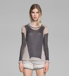 Helmut Lang MODERN LACE SWEATER on helmutlang.com