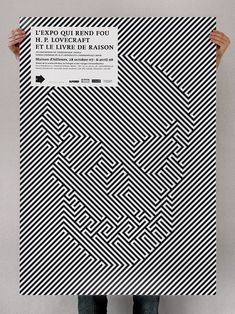 at-elier : Maison d'Ailleurs #poster #grafica #optical #teschio