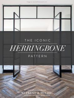 I'm a huge fan of patterns and prints. I love geometric, Islamic-art inspired patterns – their complexity is beautiful when you consider they are borne simply of basic shapes calculated to fit into and around each other for a breathtaking final look. I also love the quatrefoil or Moroccan tile pattern that keeps popping up in my Pinterest feed – ... Read More Beautiful Interior Design, Interior Design Tips, Interior Styling, Herringbone Wood Floor, Herringbone Pattern, Decorating Your Home, Interior Decorating, Rustic Room, Floor Colors