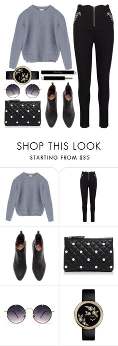 """""""Grey"""" by avramraisa ❤ liked on Polyvore featuring Acne Studios, Boutique Moschino, Spitfire and Dailylook"""