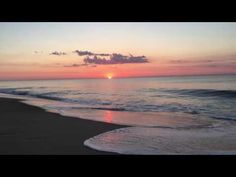"""Sunrise in Ocean City Maryland June 30, 2016. My Sunrise videos are 3 minutes. Watching Sunrises will help """"Calm' your mind and Start your day! Enjoy! www.cooksquotes.com. Thoughts and Ideas of William W Cook"""