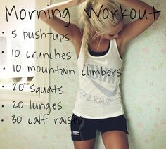 Morning workout JUST DO IT!!!!