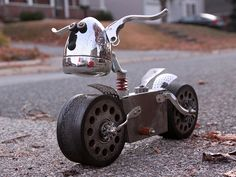 Turfer - Found Object Robot Assemblage Sculpture by Brian Marshall by adopt-a-bot, via Flickr