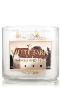 I have this one burning right now & smells so good upstairs! White Barn Nutmeg &  Spice Slatkin & Co. - Bath & Body Works
