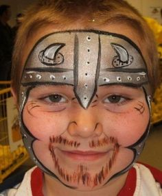 Cool Face Painting Ideas For Kids, which transform the faces of little ones without requiring professional quality painting skills. Facial Painting, Dragon Face Painting, Face Painting For Boys, Face Painting Designs, Ideas Maquillaje Carnaval, Dog Pirate Costume, Viking Face Paint, Dog Face Paints, Tinta Facial
