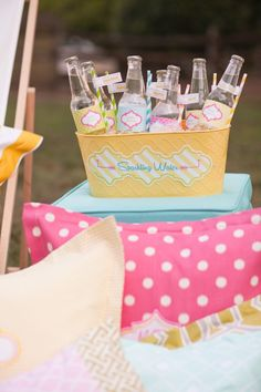 sparkling waters with printable drink wraps