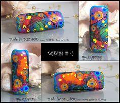 Soul Fire Art Glass focal bead by Michou P. by michoudesign