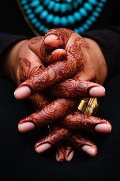 Beautiful shot of henna