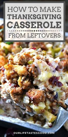 Wondering how to fit all your Thanksgiving leftovers in the fridge? Fear not! I show you how to combine all your favorit Thanksgiving Leftover Casserole, Thanksgiving Leftovers, Thanksgiving Recipes, Holiday Recipes, Thanksgiving Holiday, Turkey Leftovers, Turkey Dishes, Christmas, Easy Leftover Turkey Recipes