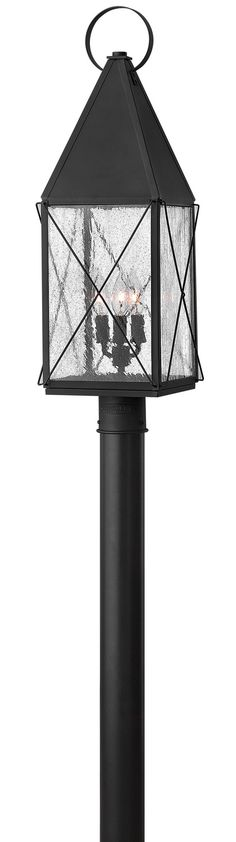 Hinkley Lighting 1841 3 Light Post Light from the York Collection Black Outdoor Lighting Post Lights Post Lights Glass Shades, Lamp Post, Post Mount Lighting, Hinkley Lighting, Lantern Head, Outdoor Lanterns, Traditional Lanterns, Post Lights, Lantern Lights