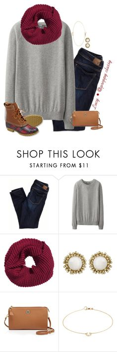 """""""I throw the leaves up in the air sometimes saying ayo it's autumn time yo"""" by preppy-classy ❤ liked on Polyvore featuring American Eagle Outfitters, Uniqlo, H&M, Kendra Scott, Tory Burch and Annoushka"""