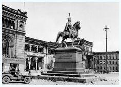 ausgebrannter Hauptbahnhof 1944