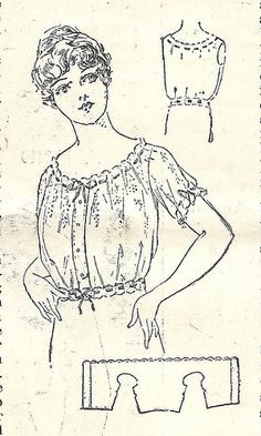 Art of Dressing corset cover by blueprairie, via Flickr