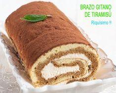BRAZO GITANO DE TIRAMISú, RICO Y DELICIOSO Muffins Fitness, Churros, Banana Bread, Catering, Chocolate, Paella Valenciana, Pollo Guisado, Cake, Desserts