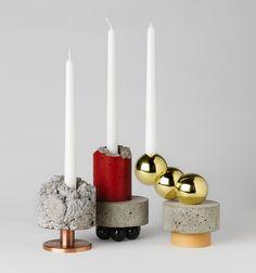 Candlesticks by David Taylor. Goodjuxtapositions.