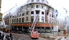 On May flames swept a Woolworth store in central Manchester, England, killing 10 people and injuring 47 others. Old Pictures, Old Photos, Vintage Pictures, Manchester Love, Manchester England, Bolton England, Manchester Bombing, Stockport Uk, Council Estate