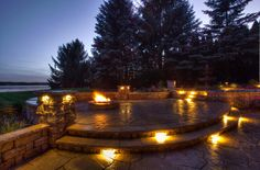 Landscape lighting is a great way to enhance the appearance of your home at night. Additionally, it includes the added advantage of increasing the security and safety in and around your home. #landscapeservices #landscaping #landscapedesign #landscapemaintenance #outdoorservices #outdoormaintenance #outdoorliving #outdoordesign #landscapelightingservice #outdoorlighting