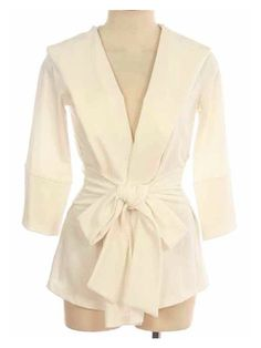 Ivory Cream Bow Tie Waist Hoodie | Great for layering | Fall Fashion Essential | sassy shortcake
