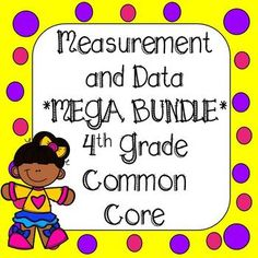 This bundle covers ALL standards in measurement or data domain in 4th Grade Math. Over 300 Task Cards and 65 Printables. All the resources you need to use for tests, quizzes, homework, spiral review, morning work, small group instruction, or math centers. **308