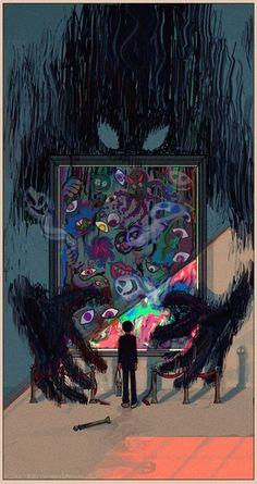 Фотография Dark Art Illustrations, Illustration Art, Mob Physco 100, Mob Psycho 100 Anime, Arte Obscura, Anime Art, Manga Art, Kagerou Project, Character Wallpaper