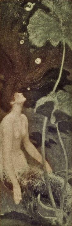 Maurice Greiffenhagen - Mermaid, ca. 1900