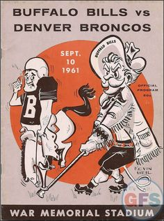 NFL Game Program: Buffalo Bills vs. Denver Broncos (September 10, 1961)