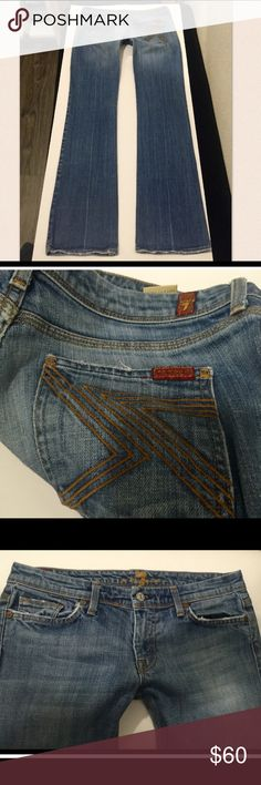 7FAMK Flynt 29 x 34 We bought these and my daughter doesn't like the low rise.  Good condition Jeans Straight Leg