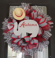 Alabama Crimson Tide Mesh wreath, Roll Tide Wreath, Alabama Football Decoration by OccasionsBoutique on Etsy #Alabamafootball #crimsontide #RollTide #wreath #occasionsboutique