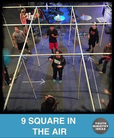 Instead of Foursquare, how about making your own NINE SQUARE IN THE AIR. Youth Ministry Ideas and Games.
